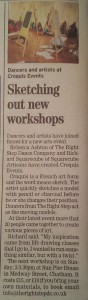 Croquis in Medway Messenger Fri 28th Nov 2014
